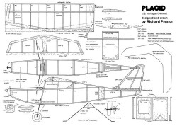Placid model airplane plan