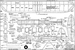 Playmate 50in model airplane plan