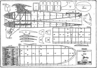 Pluto FF model airplane plan