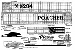 Poacher glider FM model airplane plan