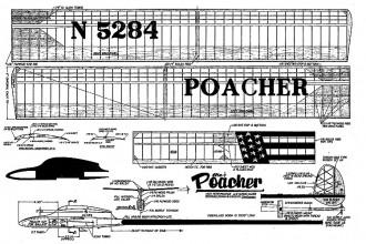Poacher glider FM model airplane plan