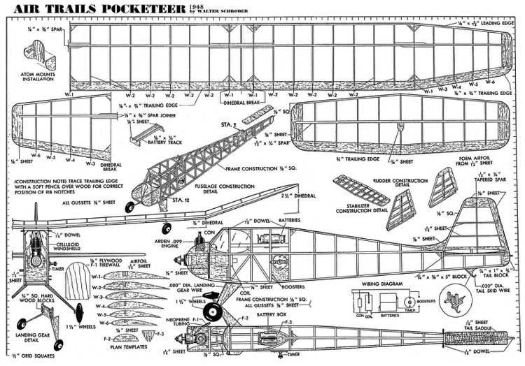 Pocketeer model airplane plan