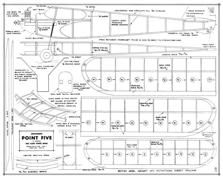 Point Five Skyleada 31in model airplane plan