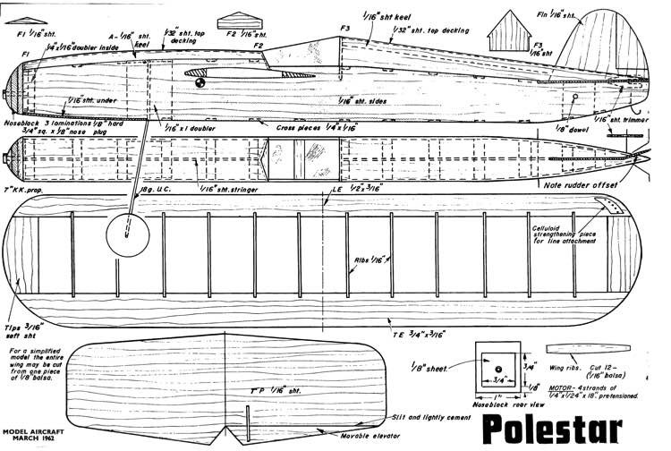 Polestar model airplane plan