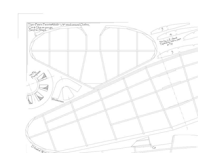 Polikarpov I-16 model airplane plan