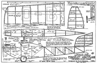 Poncelet 22in model airplane plan