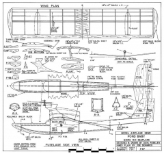 Pond Baby model airplane plan
