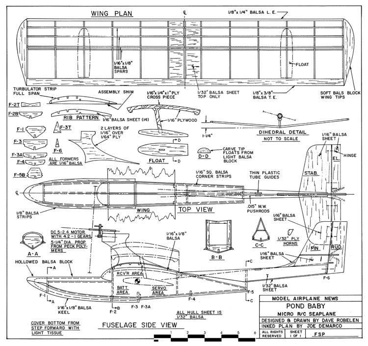 Pond Baby model airplane plan