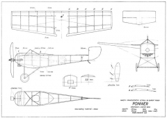 Ponnier 370mm model airplane plan