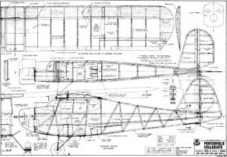 Porterfield Collegiate 70in model airplane plan