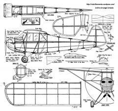 Porterfield Turner 50 model airplane plan