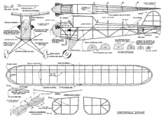 Porterfield Zephyr model airplane plan