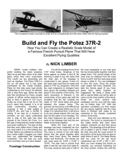 Potez 37R-2 model airplane plan