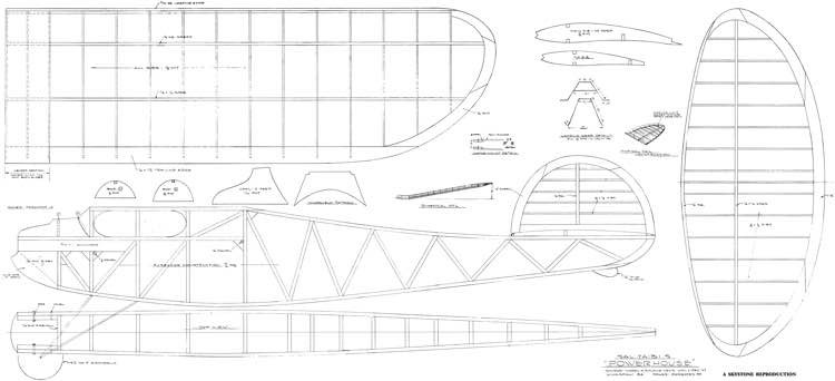 Power House 84in model airplane plan