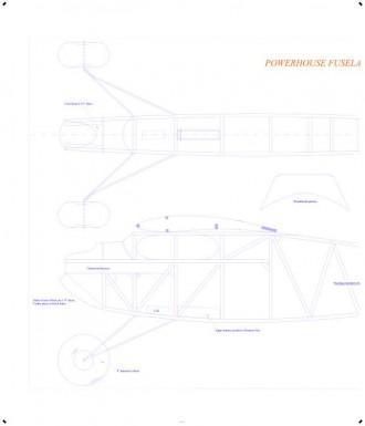 Powerhouse 84in hogal CAD model airplane plan