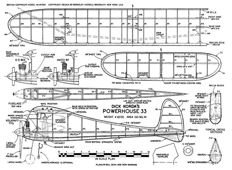 Powerhouse full model airplane plan