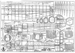 Praga E114 model airplane plan