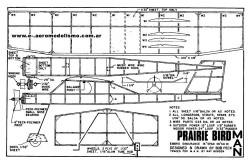 Prairie Bird MAN model airplane plan