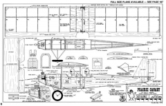 Prairie Canary-RCM-09-79 774 model airplane plan