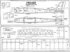 Premier0 model airplane plan