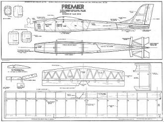 Premier0 model airplane plan