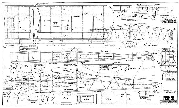 Primer RC model airplane plan