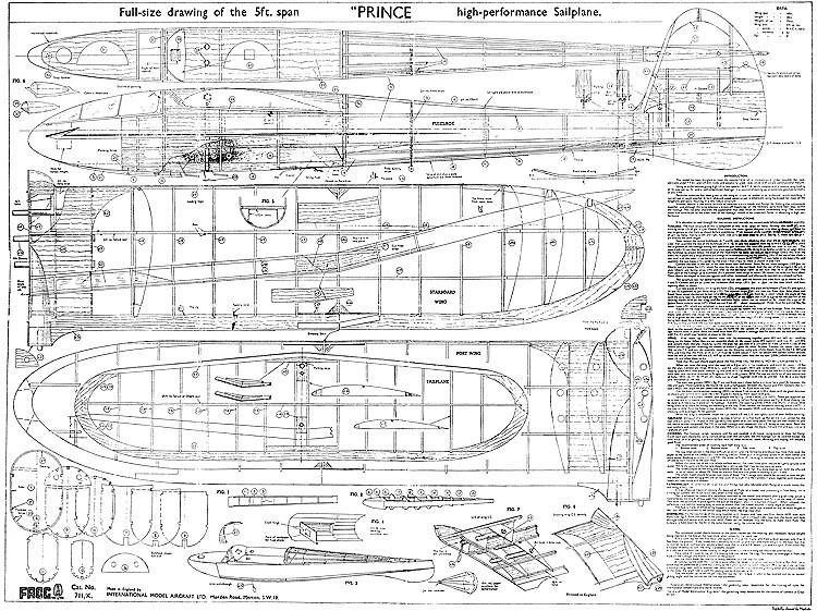 Prince model airplane plan