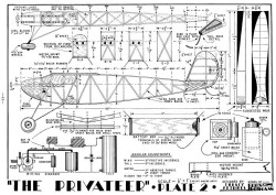 Privateer 2 model airplane plan