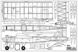 Professor RCM-335 model airplane plan