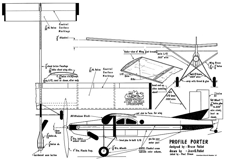 Profile Porter-AAM-06-73 model airplane plan