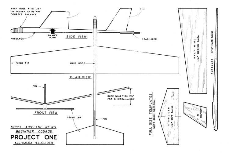 Project 1 Giant Steps model airplane plan