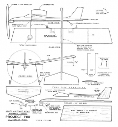Project 2 Giant Steps model airplane plan