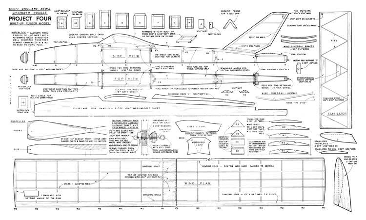 Project 4 Giant Steps model airplane plan
