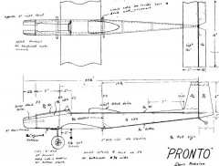 Pronto pack model airplane plan