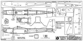 Prowler elec 36in model airplane plan