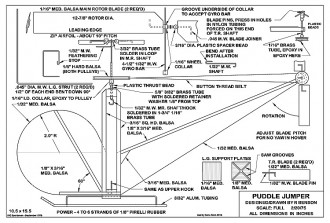 Puddle Jumper Heli 1975 model airplane plan