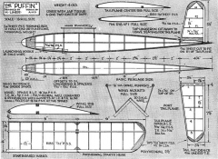 Puffin 2 model airplane plan