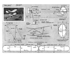 Pulski model airplane plan