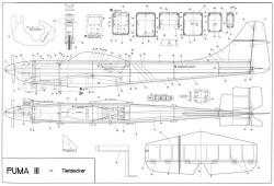 Puma III model airplane plan