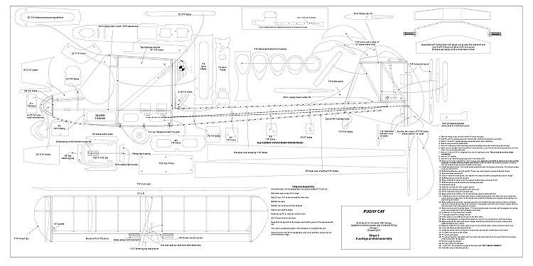 Pushy Cat 44in RC model airplane plan