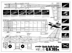 QB 20S II model airplane plan
