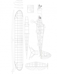 Quaker Too 1937 Model 1 model airplane plan