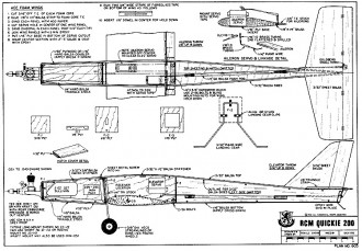 Quickie 200 RCM-603 model airplane plan