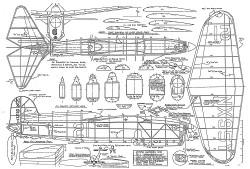 R1 Chambermaid model airplane plan