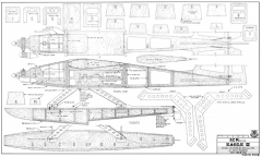 RCM Eagle II-RCM-07-85 944 model airplane plan