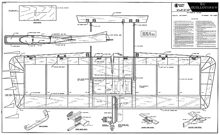 RC Guillotine 42in model airplane plan