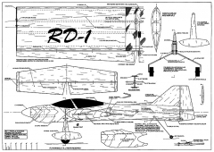 RD-1 Profile Stunter 48in model airplane plan