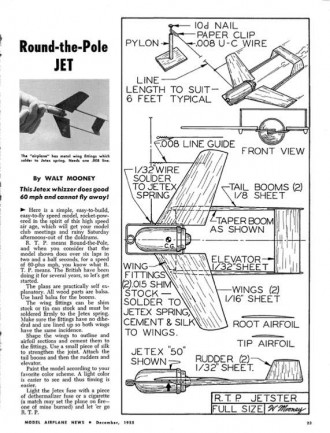 RTP Jetster-MAN-12-55 Mooney model airplane plan