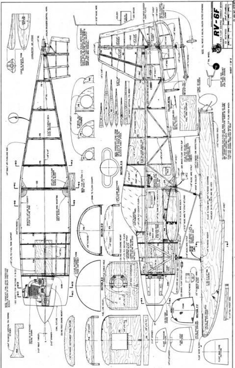RV-6F1 model airplane plan