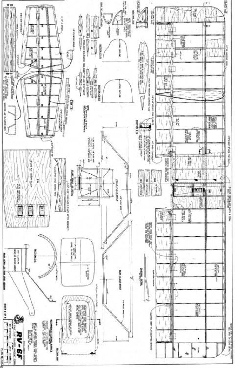 RV-6F2 model airplane plan